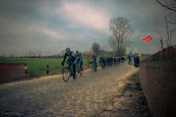 Haaghoek (peloton, 2de passage Omloop het Nieuwsblad 2013) - DSC07231