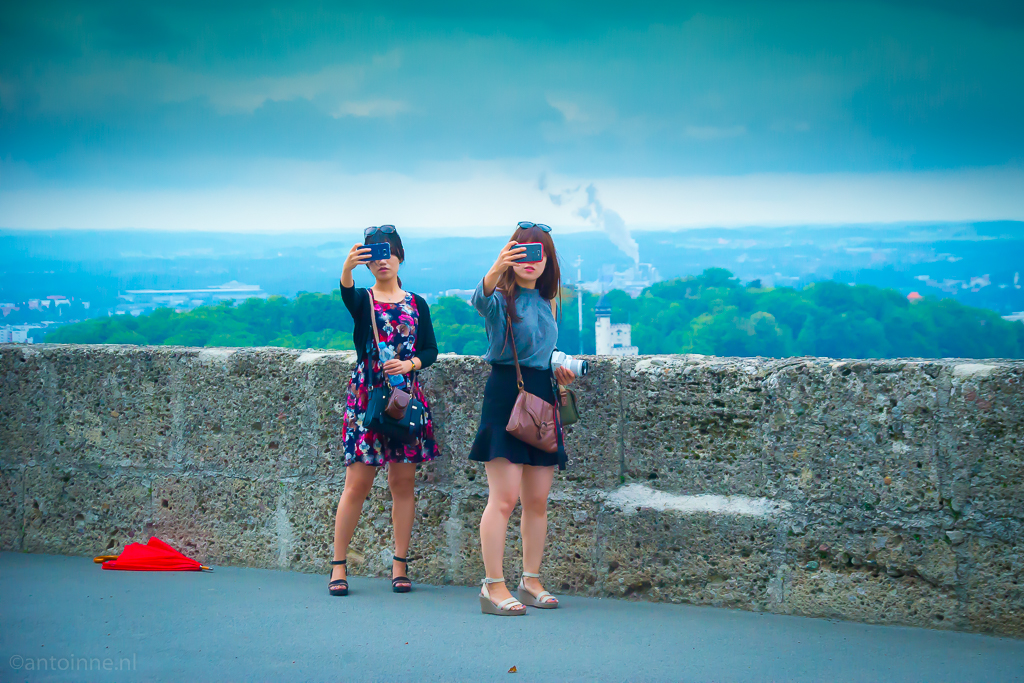 Most selfies are taken with a camera held at arm's length (Fortress Hohensalzburg, 2015) - 20150902-SLT-A99V-DSC06536