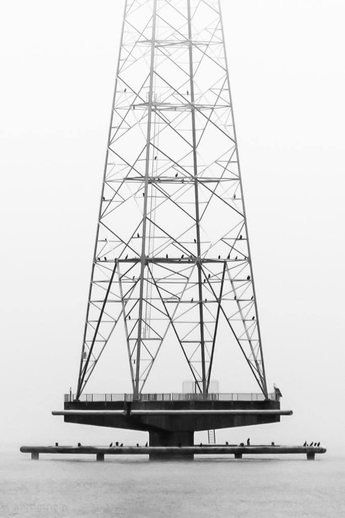 Hoogspanningsmasten Ketelmeer (Detail)