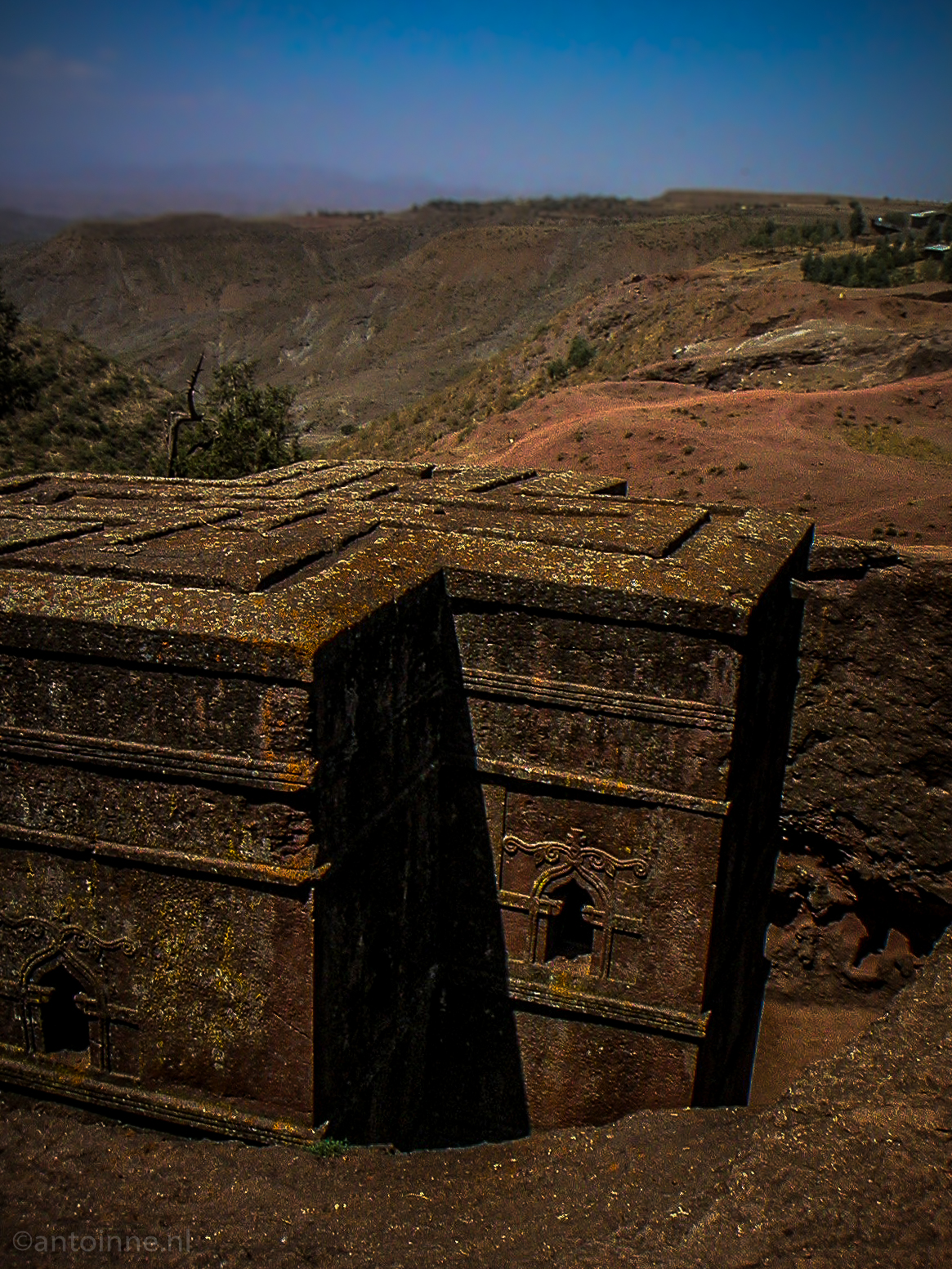 Carved out of the ground and shaped from the inside out (Bete Giyorgis Lalibela, 2004)